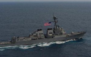 کشتی های اعزامی آمریکا به دریای کارائیب رصد و شناسایی شدند