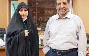 (تبریک ضرغامی به زینب سلیمانی دختر حاج قاسم