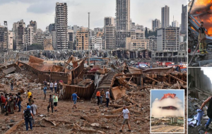 تصاویر هولناک و آخرالزمانی از انفجار بندر بیروت +عکس