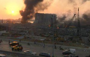 (خسارت های انفجار بیروت بر ساختمان ها + فیلم