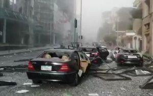 (تصاویر دردناک از خیابانهای بیروت پس از انفجار