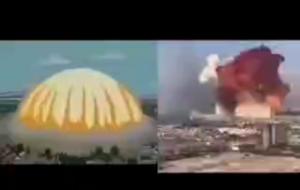 (پیش بینی سیمپسون ها در مورد انفجار بیروت