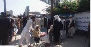 (جان باختن ۱۲ زن بر اثر ازدحام وحشتناک جمعیت در افغانستان+ویدیو