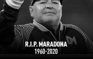 اسطورهی دنیای فوتبال مارادونا بر اثر حمله قلبی درگذشت