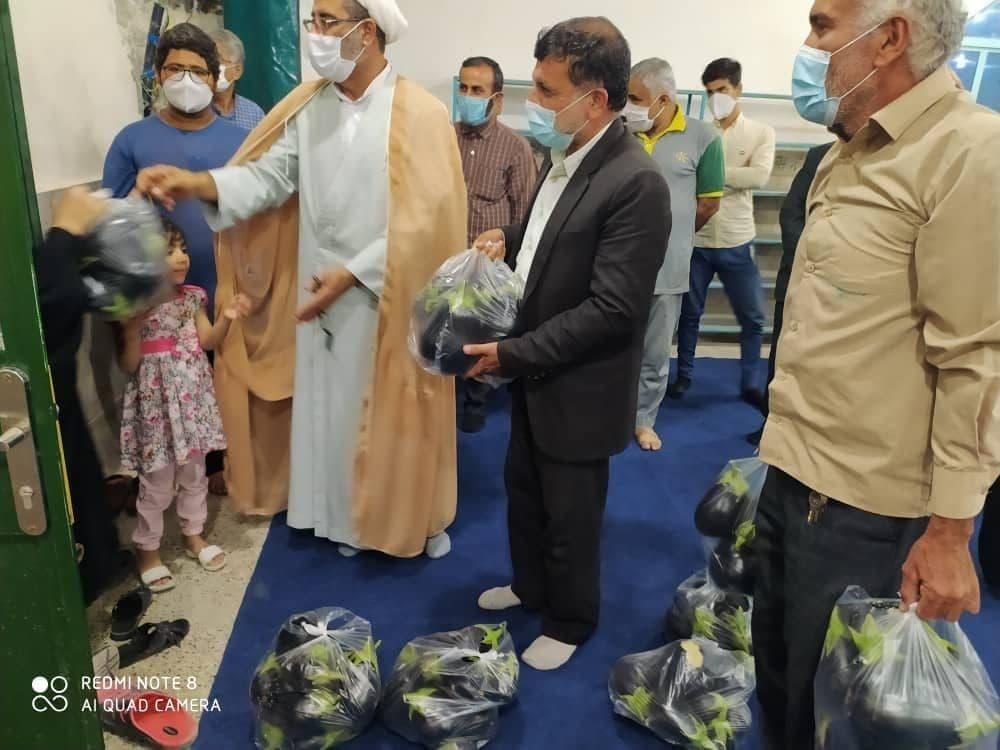 در روستای نظر آقا _ برازجان استان بوشهر ، بادمجان به عنوان کمک معیشتی به مردم داده شد!