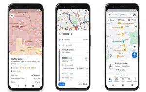 (دریافت دستورالعمل ها و محدودیت های کرونا در اپلیکیشن Google Maps