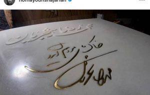 همایون شجریان از سنگ قبر پدرش رونمایی کرد / خاک پای مردم ایران