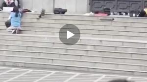 لحظه شلیک تکتیرانداز پلیس چین به گروگانگیر