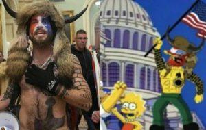 پیشگویی سیمپسونها  در مورد یورش به کنگره آمریکا  !