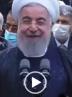 خیس شدن روحانی و وزرا در زیر باران شدید پایتخت + ویدیو